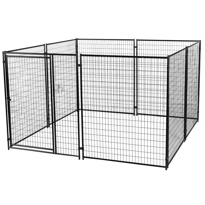 Lucky Dog Welded Wire Outdoor Dog Kennel Black 10 L X 10 W X 6 H Walmart Com Walmart Com