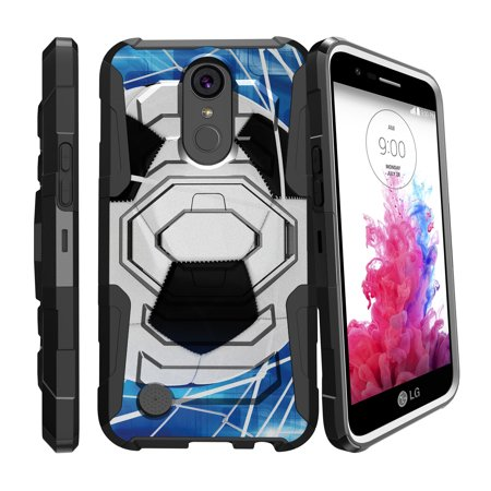- Case for LG K20 | LG K20 Plus | LG K10 2017 Only [ Armor Reloaded ] Heavy Duty Case with Belt Clip & Kickstand Soccer Collection