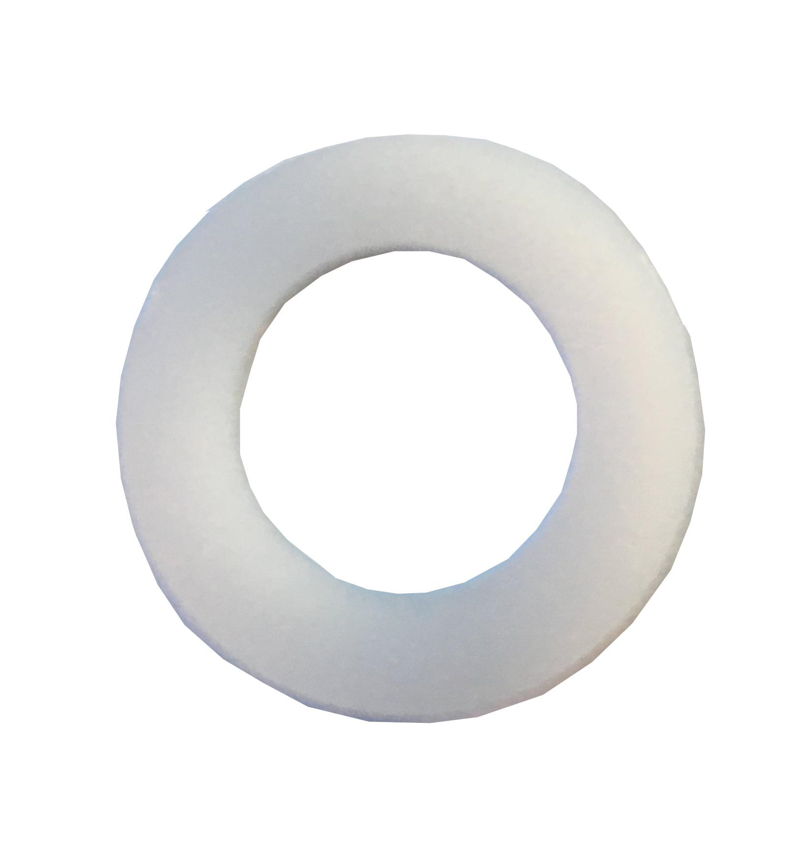 .062 Thick Clipsandfasteners Inc 50 1//4 Nylon Flat Washers .317 I.D
