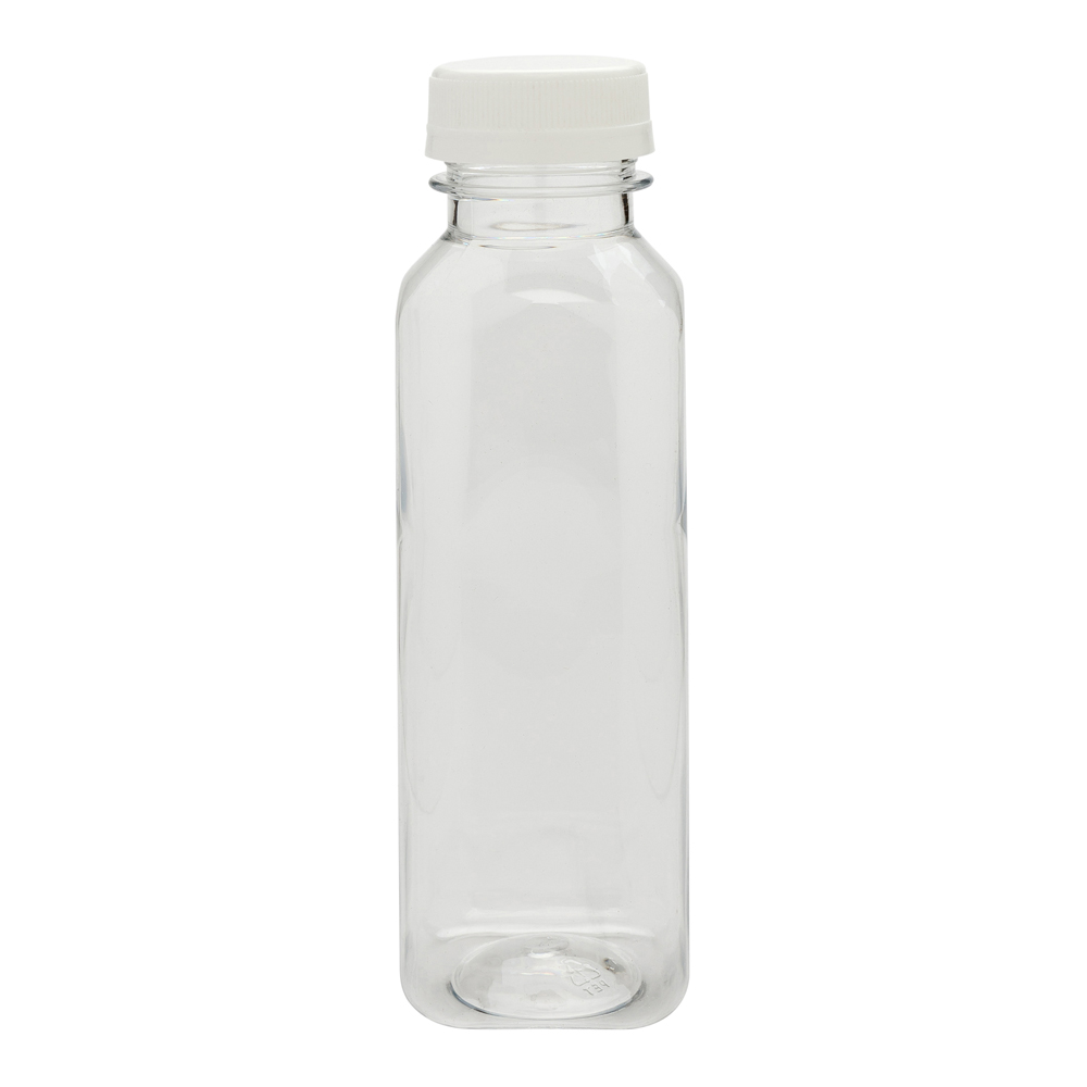 15 Bottles and Lids Plastic Juice Bottles 12 Oz Tall Empty with Caps