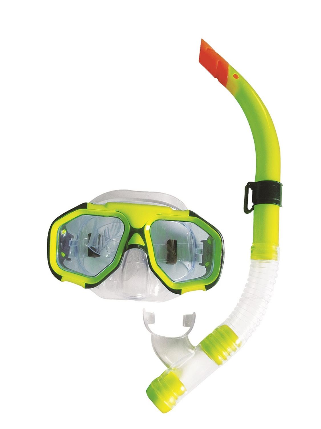 Lime Green Zray Teen Young Adult Scuba Mask and Snorkel Dive Set by Pool Central