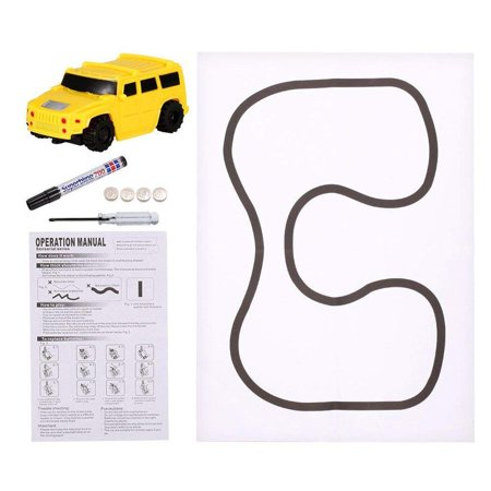 Caroj Children Mini Creative Drawn Line Follow Electric Inductive Toy Car 1pcs - image 4 of 7