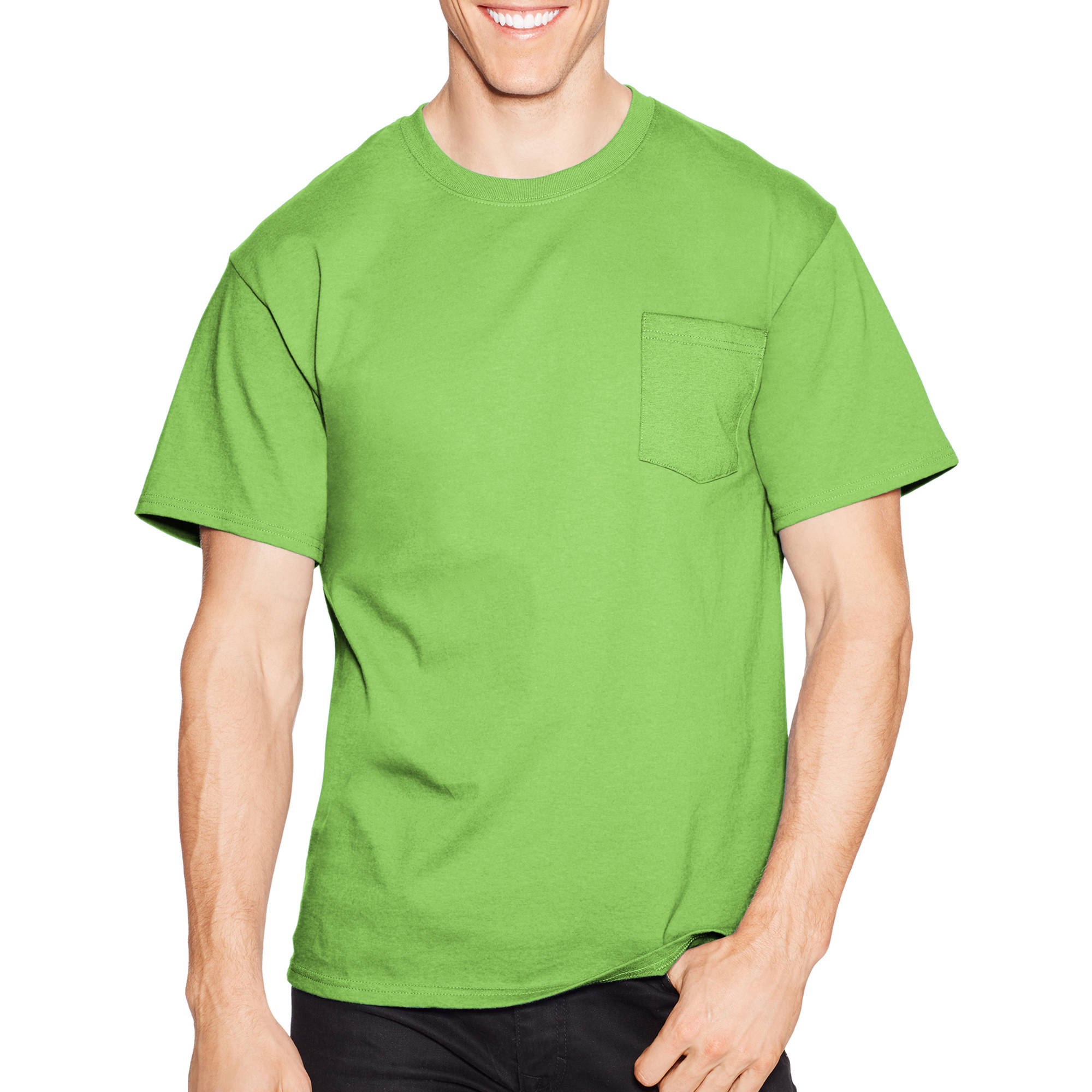 Hanes Men's Tagless Short Sleeve Pocket T-shirt