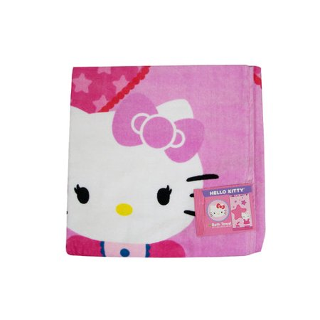 hello kitty bath towel dimensions are 25 x 50 inches. Black Bedroom Furniture Sets. Home Design Ideas