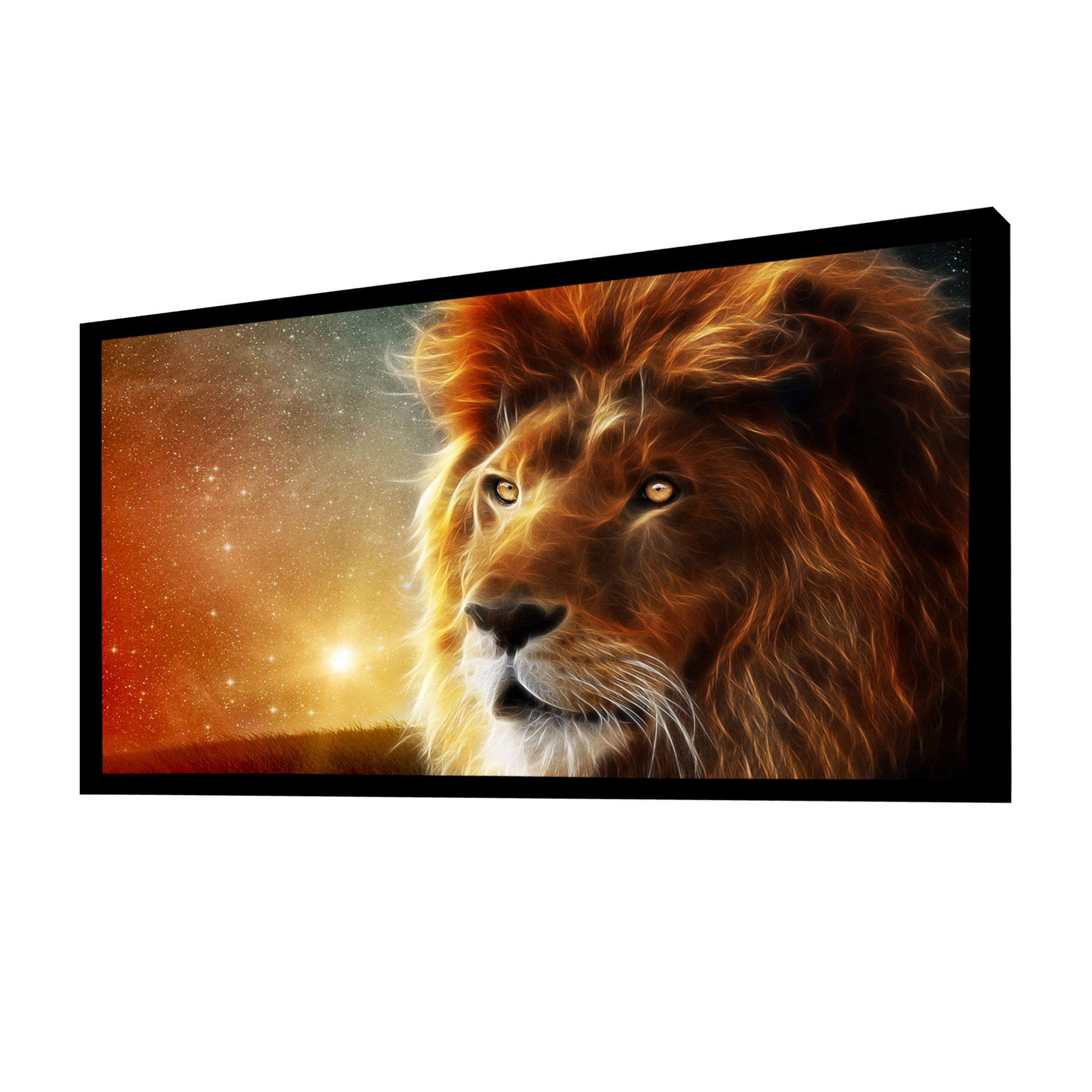 """Cloud Mountain 100"""" 16:9 HD Projector Screen Fixed Frame 4K HDTV Multi Aspect Ratio Home Theater"""