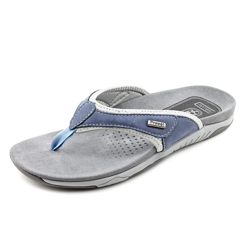 Propet Hartley Supportive Comfort Sandals Women's Denim Blue Light Blue by Propet