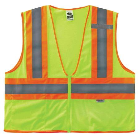 Ergodyne GloWear® 8230Z Type R Class 2 Two-Tone Vest, Lime, 2XL/3XL