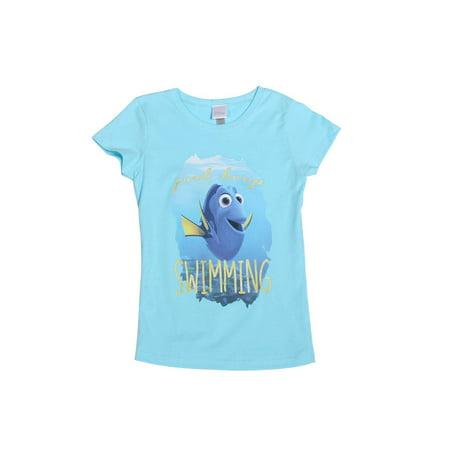 Finding Dory Just Keep Swimming The Princess Big Girls T-Shirt, XL - image 1 of 1