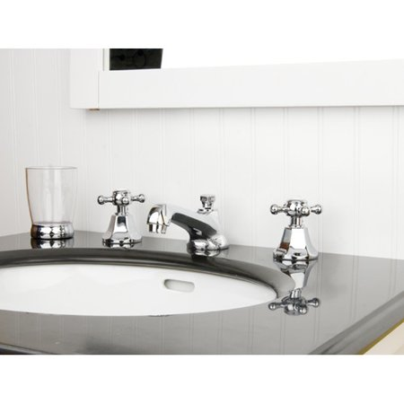 """Kingston Brass Metropolitan Two Handle 8"""" to 16"""" Widespread Lavatory Faucet with Brass Pop-up"""