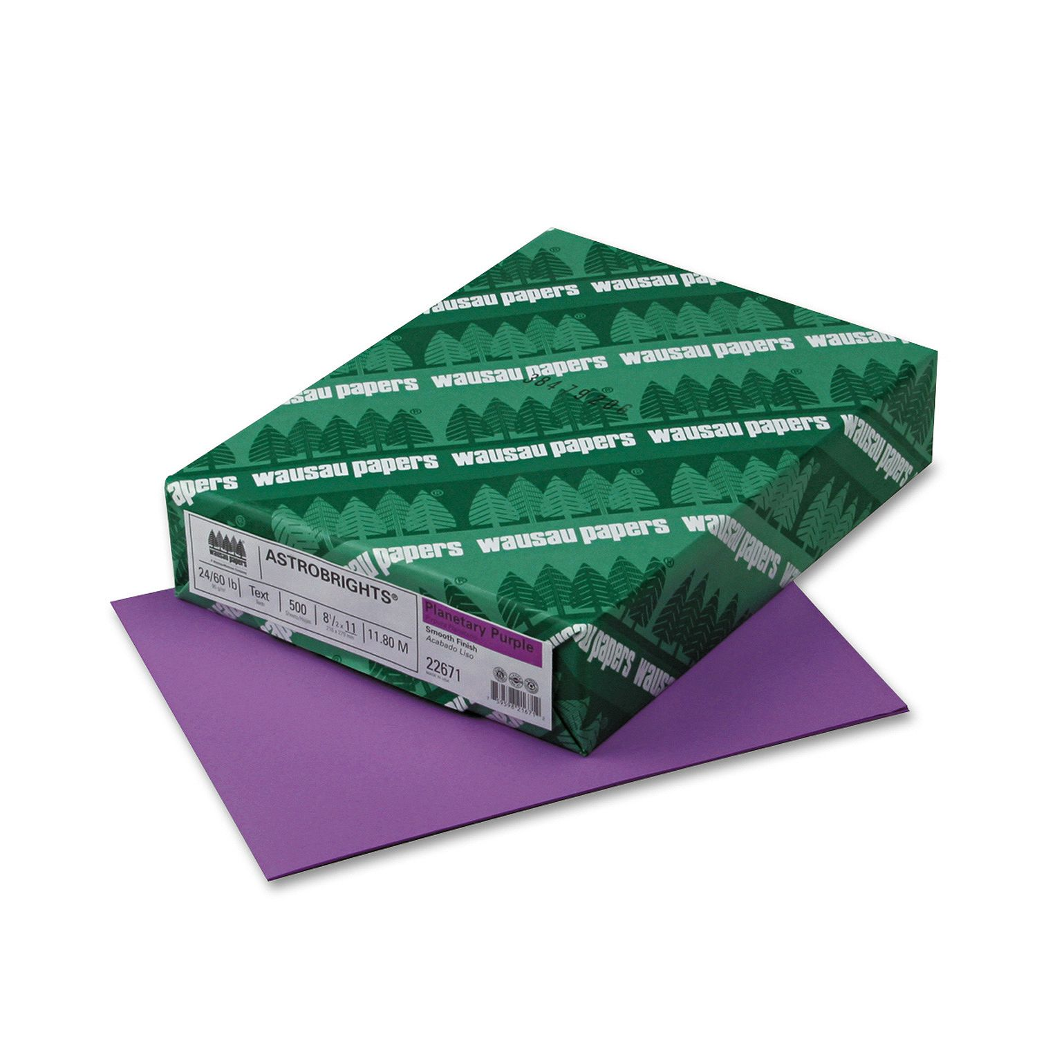 Wausau Paper - Astrobrights Colored Paper, 8-1/2 x 11, Planetary Purple - 500 Sheets/Ream