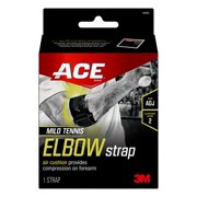 ACE Brand Mild Tennis Elbow Strap, Forearm Compression Brace, Black
