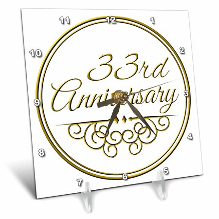 3drose 33rd Anniversary Gift Gold Text For Celebrating Wedding