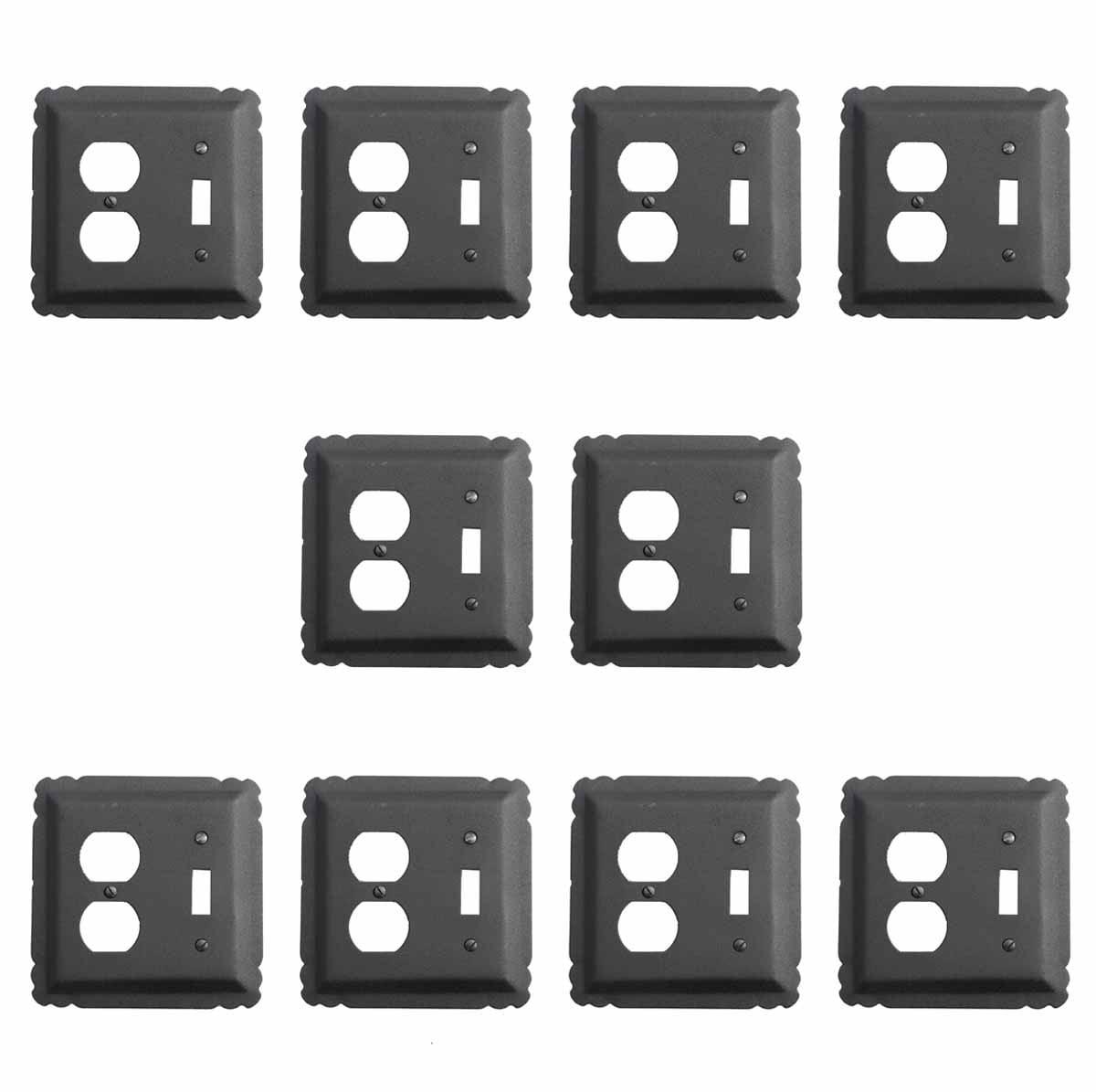10 Switchplate Black Wrought Iron Toggle/Duplex | Renovator's Supply
