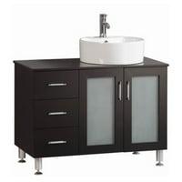 Belvedere 40 in. Modern Freestanding Single Vessel Bathroom Vanity