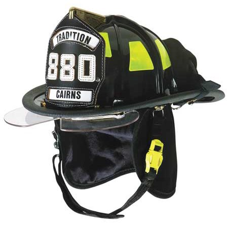 Plastic Fire Helmet (CAIRNS C-TRD-5152A3220 Fire Helmet, Black,)