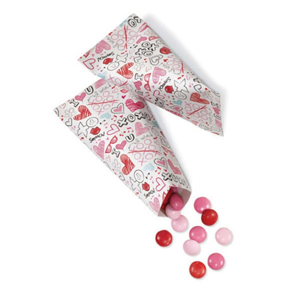Wilton Industries 1912-5328 6 Count Valentines Day Treat Pouches, Assorted Multi-Colored