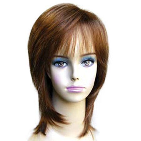 Wigs For Black Women Cheap (Fashion women medium straight E ELLEN professional)