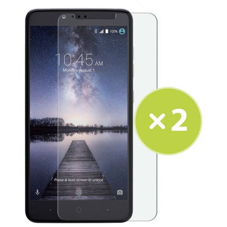 2x CLEAR LCD SCREEN PROTECTOR SCRATCH GUARD SAVER FOR ZTE ZMAX PRO Z981 (METROPCS, T-MOBILE) (Zte 5 In T Mobile)