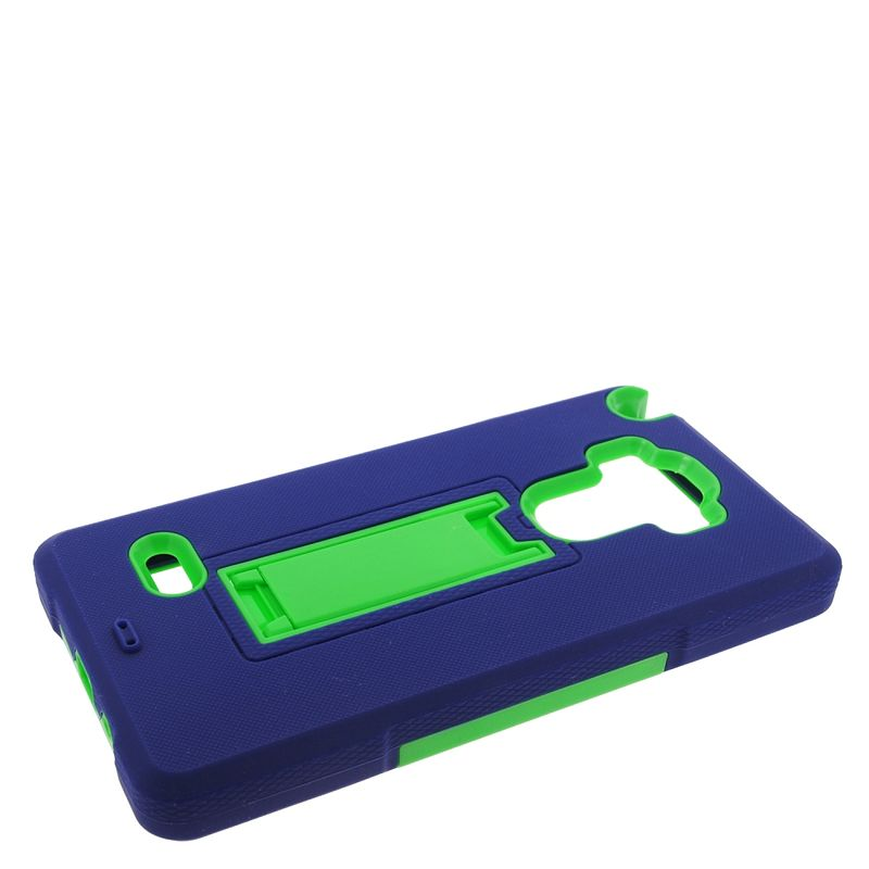 Insten Symbiosis Rubber Hybrid Hard Case with stand For LG G Stylo / G Vista 2 - Blue/Green - image 2 de 4