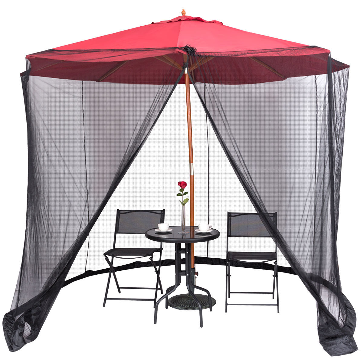 Charming Gymax Umbrella Table Screen Cover Mosquito Bug Insect Net Outdoor Patio  Netting