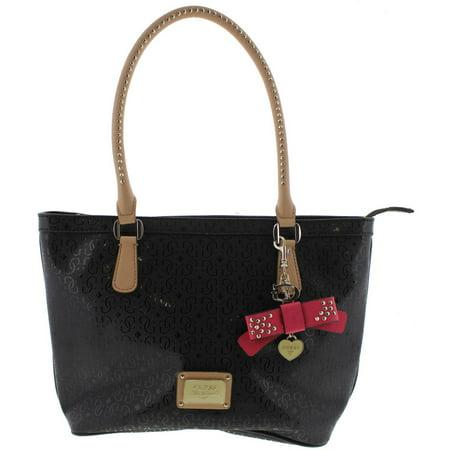 GUESS - Guess Womens Specks Embossed Signature Tote Handbag - Walmart.com 8bad2e9f192c3
