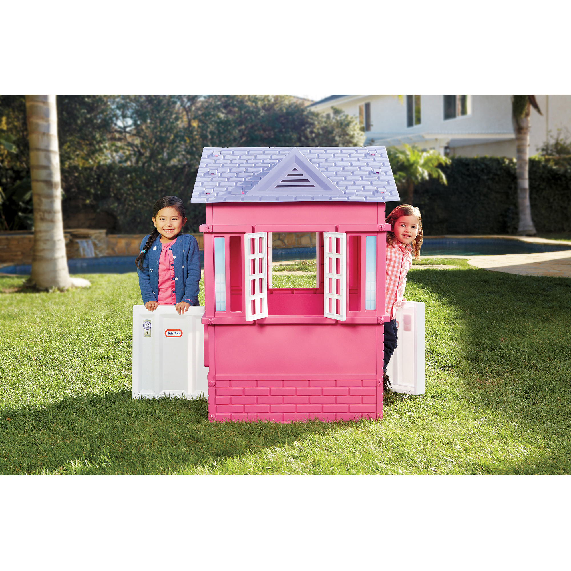 Little Tikes Princess Cottage Playhouse Pink Walmartcom