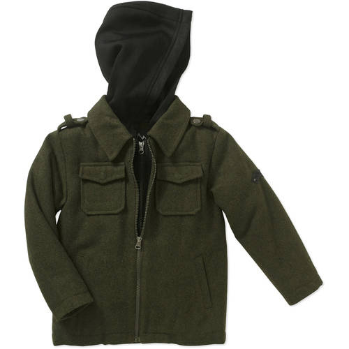 iXtreme Boys Outfitters Contrast 2fer Hooded Jacket with Pockets