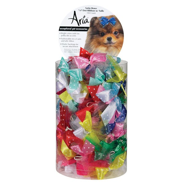 Aria Satin Bow Triple Ribbon 5/8in Assorted