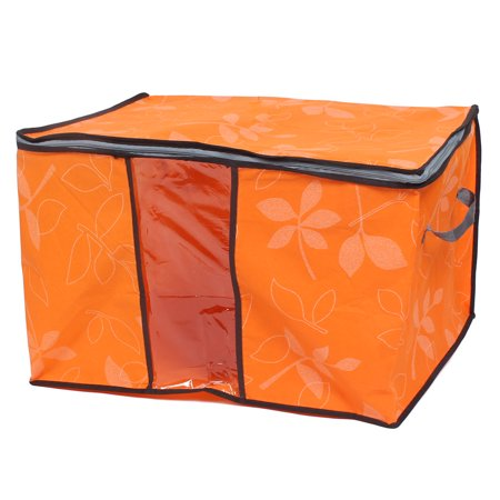 Blanket Pillows Quilts Clothes Beddings Storage Bag Organizer Orange 60x35x42cm