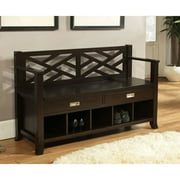 Simpli Home Sea Mills Entryway Storage Bench with Drawers & Cubbies