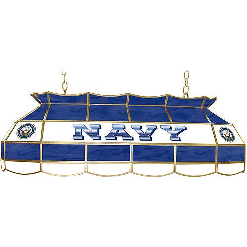"Trademark Global U.S. Navy 40"" Stained Glass Billiard Table Light Fixture"