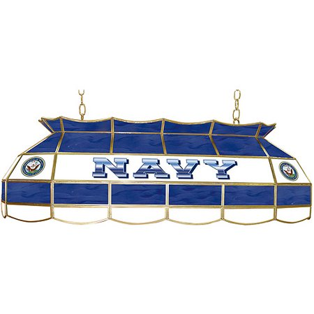 "Trademark Global U.S. Navy 40"" Stained Glass Billiard Table Light Fixture"