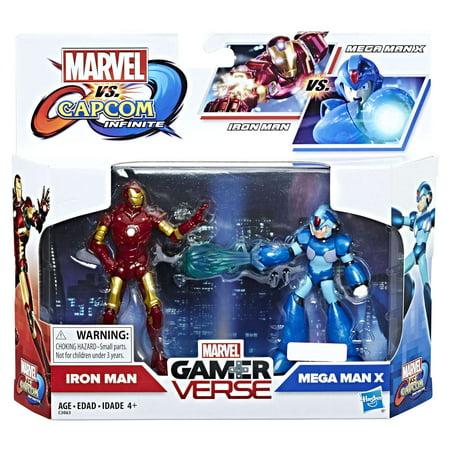 Marvel Manga - Marvel Gamerverse Marvel vs Capcom: Infinite Iron Man & Mega Man X Action Figure 2-Pack