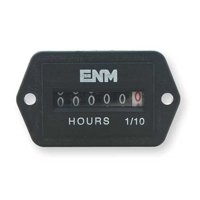 ENM T41E45 DC Hour Meter,6-Digit,2-Hole Rectangular
