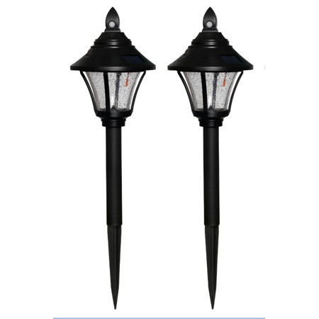 Mainstays Solar Motion Activated Path Light - 2PK ()