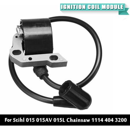 Stihl Chainsaw Clutch (Black Ignition Coil Module For Stihl 015 015AV 015L Chainsaw 1114 404 3200)