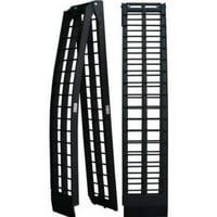 Zimtown 9 ft 1200Lb Aluminum Folding Dual UTV ATV Loading Ramps Truck Ramp Pair - Black