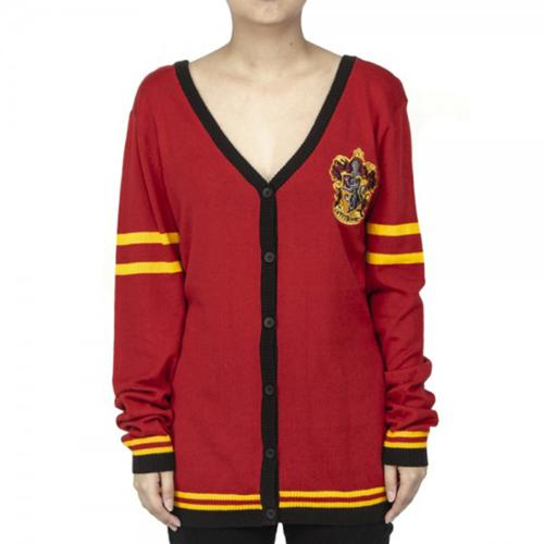 Harry Potter Gryffindor Cardigan Sweater: Large