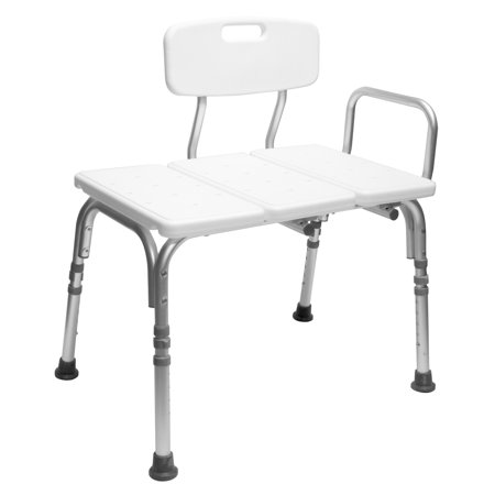 Astonishing Healthline Tub Transfer Bench Lightweight Medical Bath And Shower Chair With Back Non Slip Seat Bathtub Transfer Bench For Elderly And Disabled Unemploymentrelief Wooden Chair Designs For Living Room Unemploymentrelieforg