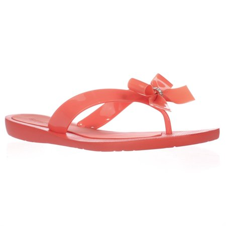 81e62b238d343a GUESS - Womens GUESS Tutu Bow Thong Flip Flops - Orange Multi - Walmart.com
