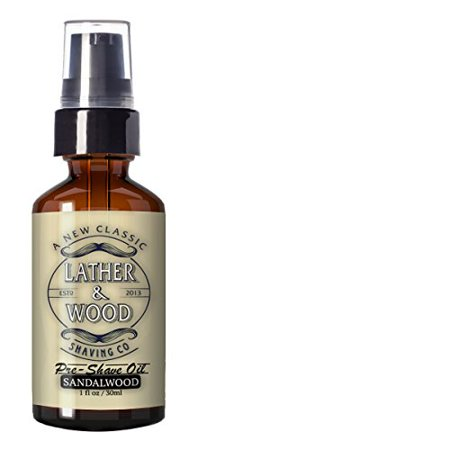 Best Pre-Shave Oil - Sandalwood Premium Shaving Oil by Lather & Wood