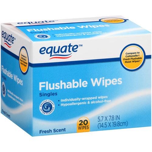 681131071451 Upc Equate Flushable Wipes Singles 20