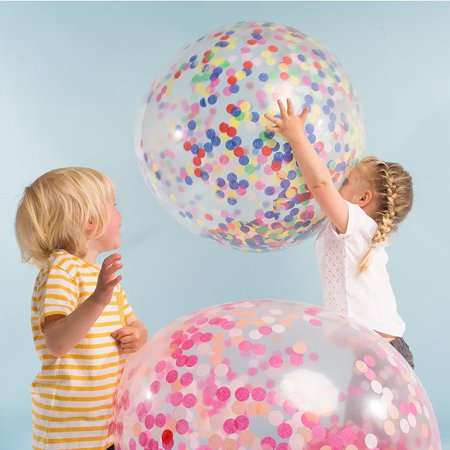 US 6Pcs Clear 36'' Large Giant Latex Big Oval Balloon Wedding Party Decoration - image 4 of 8