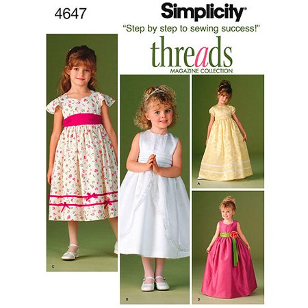 Simplicity Patterns Child's Special Occasion Dress 400 40 40 40 Adorable Walmart Dress Patterns