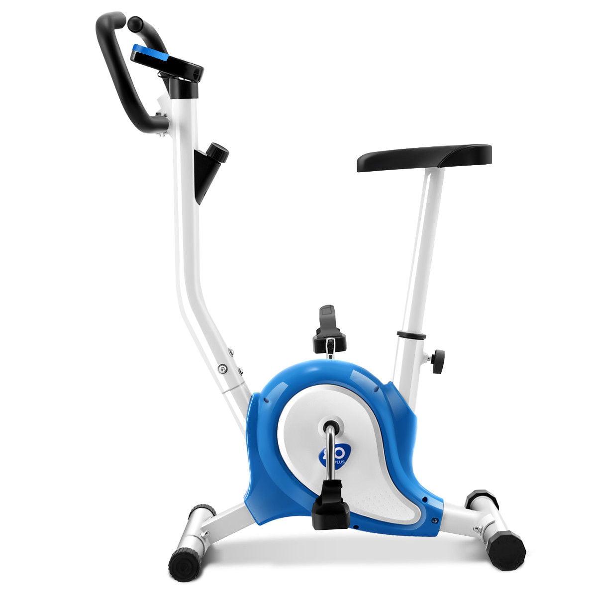 Goplus Blue Upright Exercise Bike