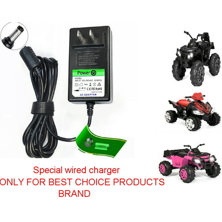 12V Circle Charger for Best Choice Products Brand ATV Quad Ride ON 12 Volt Power
