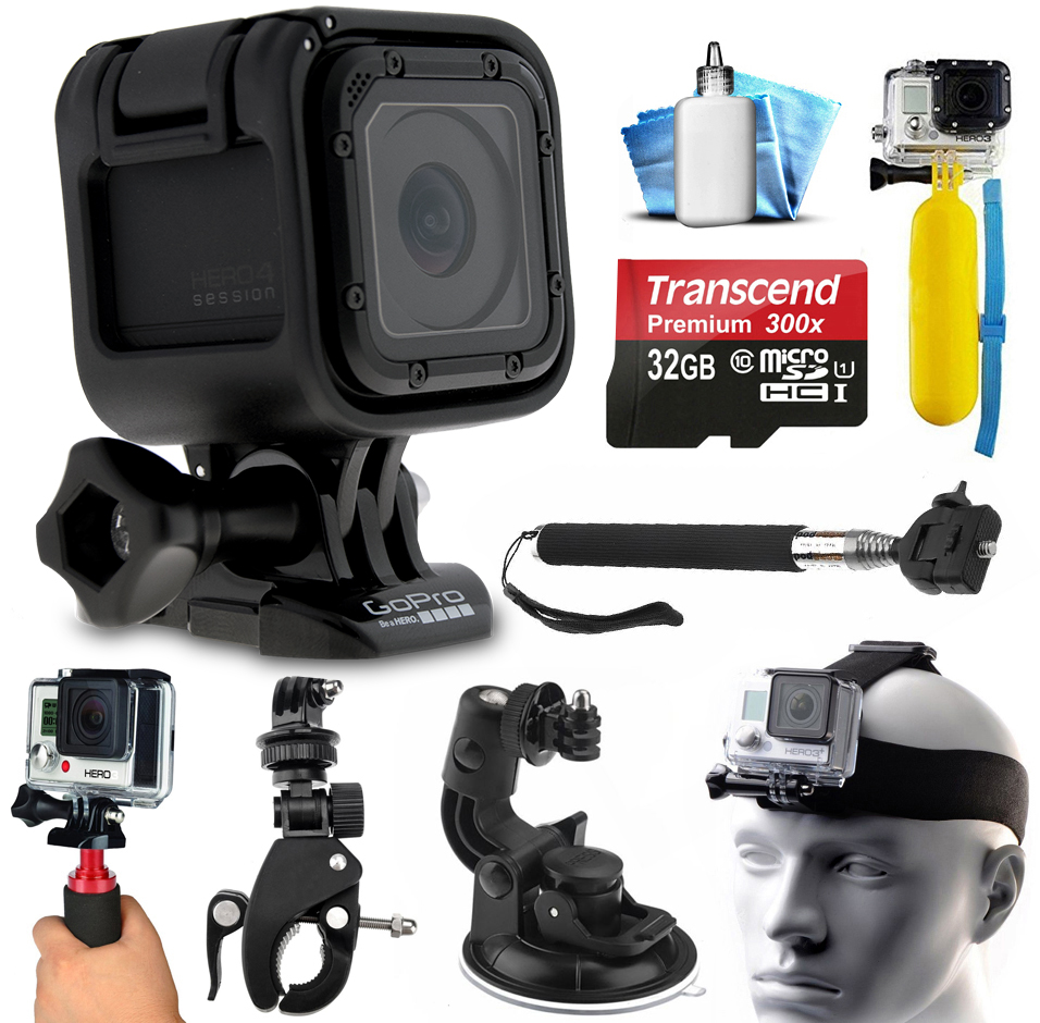 GoPro HERO4 Session HD Action Camera (CHDHS-101) with Ext...