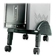Kantek Angled CPU Stand - System floor stand - black