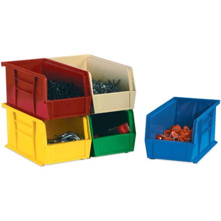 BINP1087Y 10 3/4 Inch x 8 1/4 Inch x 7 Inch Yellow Durable plastic Stack & Hang Bin Boxes CASE OF 6 ()