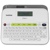 Brother P-touch, PTD400AD, Versatile Easy-to-Use Label Maker, AC Adapter, QWERTY Keyboard, Multiple Line Labels, White